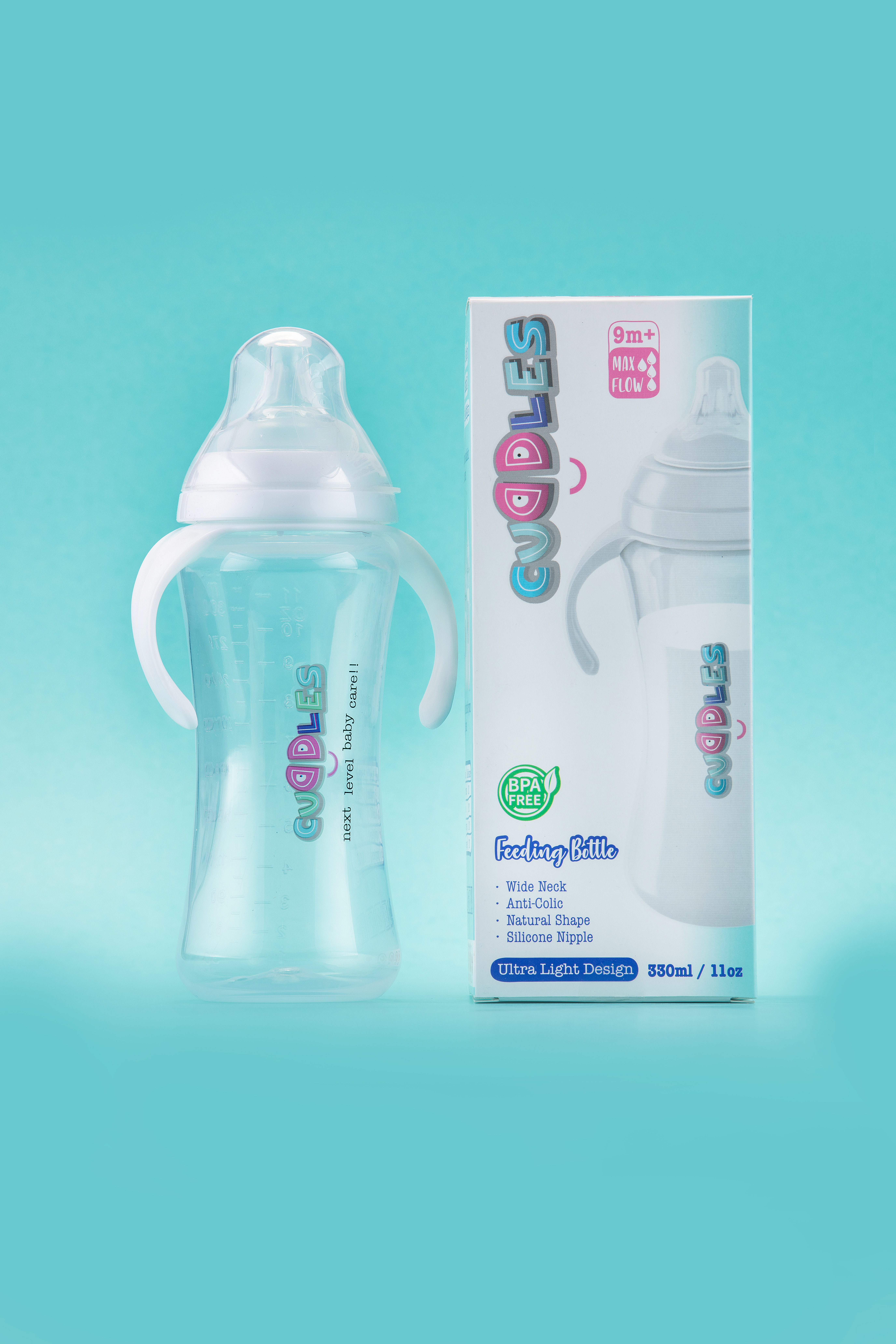 Cuddles 330 Ml/11oz | Baby Feeding Bottle | (CFB004/01)